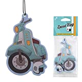 Funky Retro Scooter Car Air Freshener Hanging Fragrance Blueberry Scented