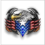 American Tribal eagle sticker / decal