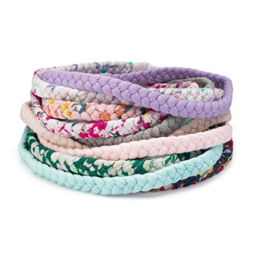 Parker Baby Girl Braided Headbands, Assorted 10 Pack of Hair Accessories for Girls -Wildflower Set