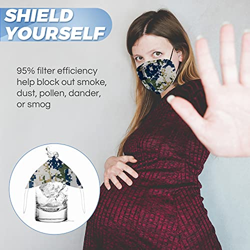 U-Drive Disposable Face Mask (20PCS) - Protective 5-Layer Nose & Mouth Cover for Outdoor Use - Foldable, Comfortable, Breathable - Filters Air Pollution, Smoke, Dust, Particulate, Exhaust