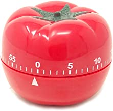 yueton Kitchen Craft Mechanical Wind Up 60 Minutes Timer 360 Degree Rotating Tomato Shape Kitchen Cooking Timer