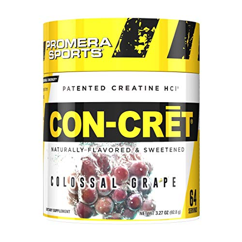 Promera Sports CON-CRET Patented Creatine Hydrochloride Powder, Stimulant Free, No Loading, No Harsh Side-Effects, Grape, 2.17 Ounces / 61.4 Grams, 64 Servings