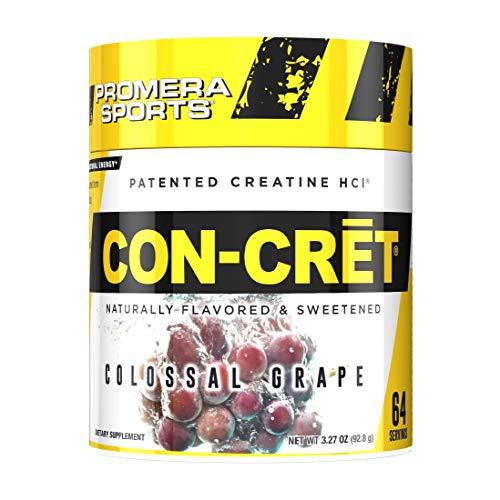Promera Sports, CON-CRET Creatine HCl Powder, Micro-Dose Creatine, No Bloating, No Upset Stomach, No Water Retention, No Loading, Made in USA,Gluten-Free, Grape, 64 Servings