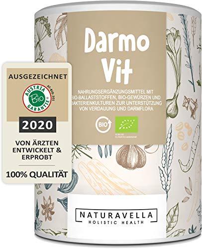 DarmoVit® - hochwirksame Darmsanierung & sanfte Darmreinigung I Bio Darmkur mit Darmbakterien, Flohsamen & Ballaststoffe für deine Darmflora I Premium-Qualität 250g - Jetzt erleben!