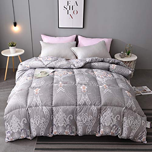 Bedding for Beds Goose Down Feather 13.5 Tog Duvet, Threads Double Cotton Down Proof Fabric, Machine Washable Home Winter Warm Quilt