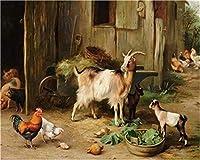 Diy 数字油絵 キャンバスの 農家養鶏場 数字油絵 大人の子供の ためギフト 手塗Diyりデジタル油絵 40X50 Cm