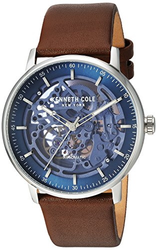 Kenneth Cole New York Men's 'Auto' Automatic Stainless Steel and Leather...