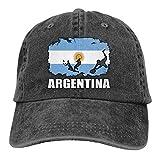 LLeaf Drapeau de l'Argentine Football Rugby Casquettes de Baseball Ajustables pour Femmes Denim Jeanet Casquette de Camionneur