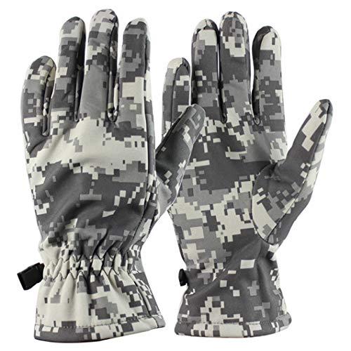 Guantes de Invierno al Aire Libre Unisex 3 tamaños Guantes de Dedos completos con paño Grueso y Suave cálido Guantes de Moto térmicos Impermeables a Prueba de Viento