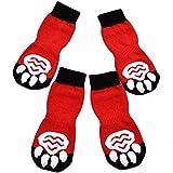 EXPAWLORER Dog Socks Traction Control...