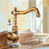 QIMEIM Grifo Cocina de cocina/baño Grifo Fregadero Vintage antiguo lavabo Grifo de...