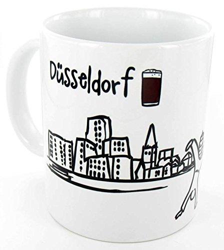 die stadtmeister Keramiktasse Skyline Düsseldorf - als Geschenk für Düsseldorfer & Fans der Metropole am Rhein oder als Düsseldorf Souvenir