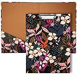 Carpeta Portapapeles con Pinza para A4 Plegable con Almacenamiento Portapapeles Decorativos para Enfermera, Oficina, Escuela, Estudiantes(21 * 29.7cm)