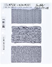 Stampers Anonymous Tim Holtz Cling Rubber Stamp Set, Reflections