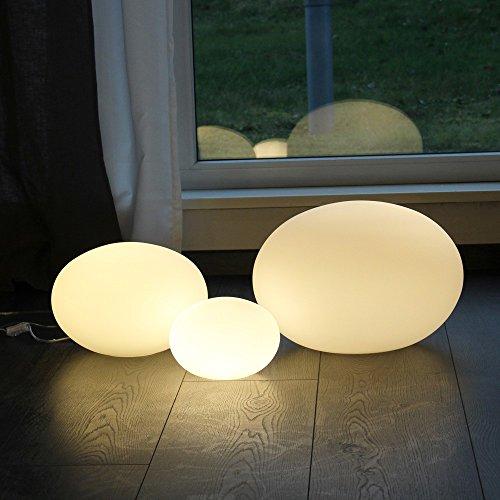 s.LUCE Sitter S Opalglas Tischleuchte Ø 20cm Weiss Tischlampe Kugelleuchte Glasleuchte Nachttischlampe