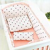 Nursery Cradle-Dekor-5pcs / gesetzte Karikatur-Krippe-Bettwäsche-Set Waschbar 4pcs Bett Auto & Bettlaken für Neugeborene Baumwolle Bett Komfortabler Schutz