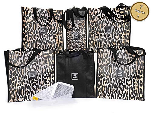 7 Large reusable grocery bags in 1 Premium Compact Organizer Durable, Stylish Tote with An Assortment of Bags Best for Your Shopping Needs A Chic Choice for Savvy Shoppers, Large