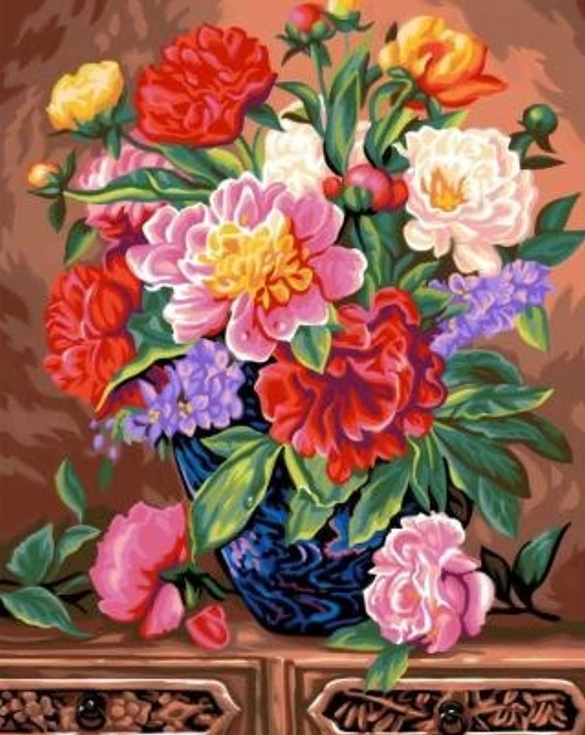 Ksg Crafts Bouquet Paint-By-Number Kit