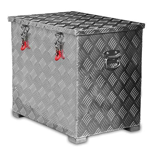 120l Alukiste Werkzeugkiste Alubox Deichselbox Staubox Gurtkiste Box Alu Kiste