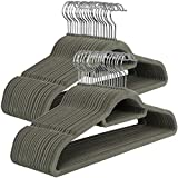 SONGMICS Velvet Hangers, 50 Pack, Ultra Thin Space Saving, Non-Slip Coat Hangers with Tie Organizer, 360...