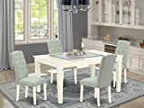 East West Furniture 5Pc Dining Set Includes a Rectangle...