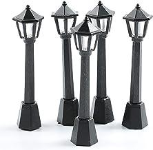 BESPORTBLE, 3 peças, mini luminária de rua, luz solar, poste de lâmpada, poste de lanterna, decoração de casa de bonecas, ...