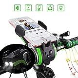 Bluetooth Fahrrad Lautsprecher,Kabellos Sport Tragbare Lautsprechers,with 4400mAh Leistung Bank,Lichterkette,Glocke,Handyhalter,Freisprechen für Anrufe Support TF Karte für Musik 6 in 1