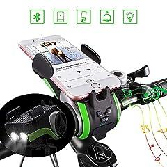 UPPEL Bluetooth Haut-parleurs portatifs Haut-parleurs extérieurs V4.0 +4400mAh Performance Banc +Cloche+Support de téléphone+Mains libres pour appels Support TF Carte TF pour jouer de la musique 10 en 1