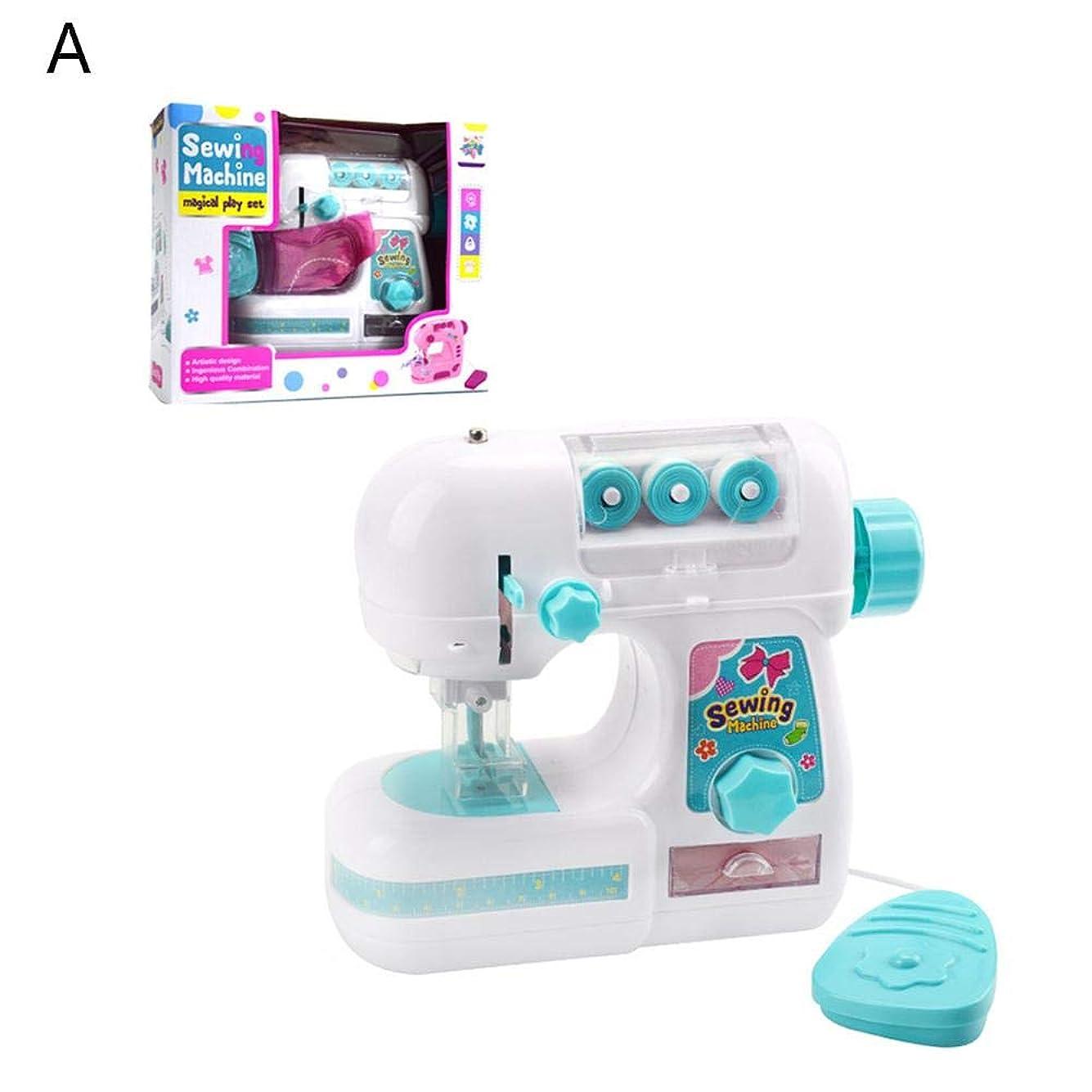 証書核記者電気ミシン 子供向けミシン 多機能ミニミシン 小型家電おもちゃ ままごと ミシンごっこ遊び DIY 親子遊び 知育玩具 教育興味深い 裁縫道具 子供への贈り物