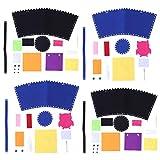 Siamrose 4 Sets Canasta Kit de Tejido Canasta Fabricación de Materiales artesanales Artesanía artesanía Juguetes educativos para Kindergarten niños DIY DIY Halloween Candy Cesta LTLNB