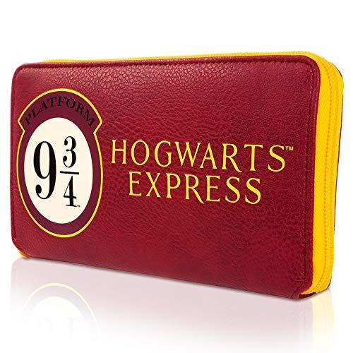 Harry Potter Purse | Zip Around Purse | Official Harry Potter Merchandise | Classic Harry Potter Red and Yellow Colours Size 20cm x 11cm x 2.5cm