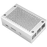 Tamkyo Raspberry Pi 3 Modelo B + Caja Caja de Aluminio Caja Compatible con Raspberry Pi 3 Modelo B También (Plata)