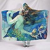 Zseeda Fantasy Sea Pearl Beauty Fishes Artwork Manta Tradicional Sherpa Throw Mantas con Capucha Adolescentes estudiando