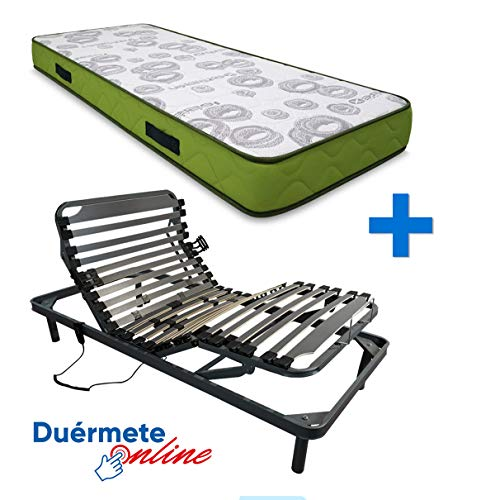 Duérmete Online Completa Colchón Artiflex HR para Cama Somier Eléctrico Articulado 5 Planos | Fabricado en ESPAÑA, Pack, 80x200