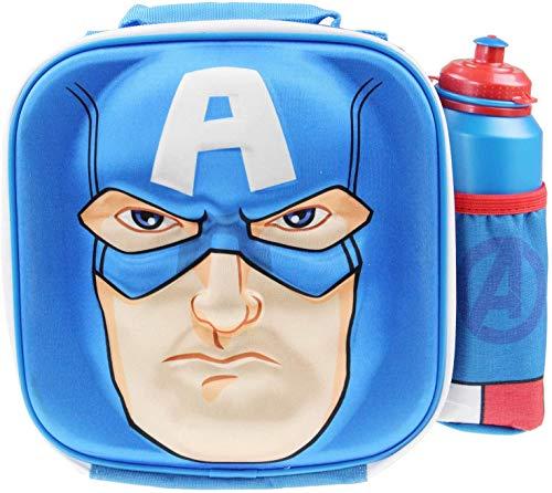 Blue Avengers – Bolsa de almuerzo con botella de agua