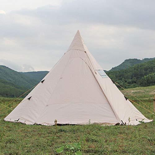 Tienda piramidal de campaña para campamento indio, con agujero para chimenea, 400 x 350 x 240 cm, solo incluye carcasa exterior