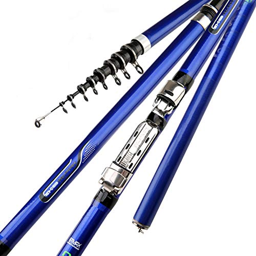 NYKK Angelrutenstange Carbon Fiber Spinning Angelrute Kraftteleskop Felsen Angelrute Carp Feederrute Surf Spinnrute Angelruten Angelruten- und Rollen-Combos (Length : 4.5 m)
