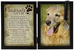 Personalized Dog Memorial Gifts - Pawprints Pet Memorial Frame.