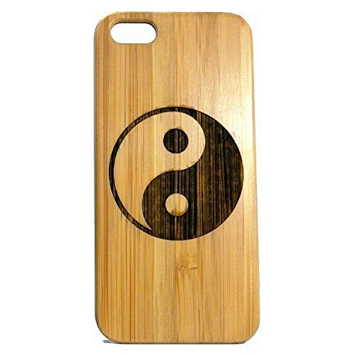 Yin Yang iPhone 7Case/Cover von imakethecase | Bambus Holz Bezug. Chinesische Symbol | Gravur auf umweltfreundlichem Bambus Haut.