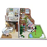 CUHAWUDBA Miniatura de Casa de Mu?Ecas con Muebles DIY Juguetes de Casa de Mu?Ecas de Miniatura de Madera para Navidad DecoracióN para el Hogar Artesanal X002