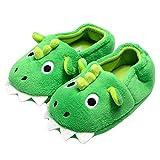 Secret Slippers Toddler Baby Boys House Slipper Cute Dinosaur Cartoon Soft Anti-Slip Winter Shoes , Green ,10 Toddler