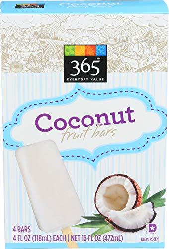 365 Everyday Value, Coconut Fruit Bars, 4 ct, (Frozen)