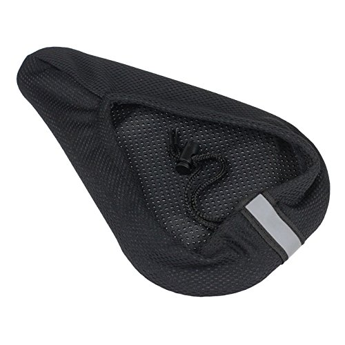 Dianli Comfort Bike Seat Cushion Saddle Hip Pain Relif Accessory for Moutain Bikes Road Race Bycycle Outdoor Workout Cycling Bike 3D Silicone Gel Pad Seat Saddle Cover Soft Cushion Black