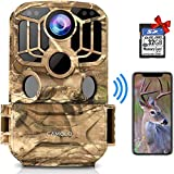 CAMOLO Trail Game Cameras WiFi 24MP 1296P Infrared Night Vision Hunting Camera for Wildlife...