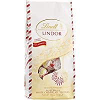 Lindt Holiday Peppermint White Chocolate Truffles, 19 Ounce Bag