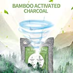 12 pack bamboo charcoal air purifying bag, activated charcoal bags odor absorber, moisture absorber, natural car air… 13 effectively odor absorber: our activated bamboo charcoal carbon adsorption capacity is three times than ordinary carbon, as we added a secondary high-temperature activation process , makes bamboo charcoal bags havehighspecificsurface areaandactivity to quickly eliminate the odor and excess moisture. Charcoal odor eliminator truly absorb bad odors naturally not covering the odor with additives works fast by more charcoal air purifying bag: according to the degree of smell, the amount of air freshener bags can be appropriately increased to speed up the adsorption rate and quickly eliminate odor and smoke. For example, the adsorption rate of 200 grams activated bamboo charcoal is four times faster than 50 grams. We have different packs of air purifying bags to meet all your needs for purifying multi size fit all space: we have three sizes of nature fresh air purifier bags can conveniently put in the place where the odor is and comprehensively remove the odor problem in your life. Perfect as shoe odor eliminator, car air purifier and basement odor eliminator. Meanwhile, the air purifying bag stop odor and damp by absorbing excess moisture, convenient natural odor eliminator for daily use to maintain a fresh environment