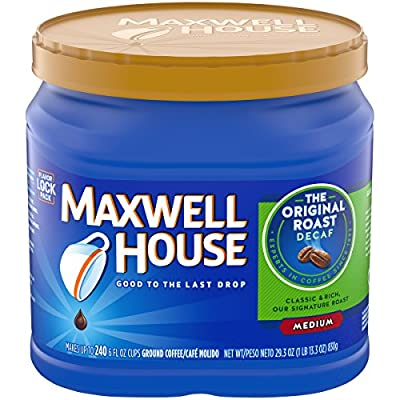 Maxwell House Decaf Original Medium Roast Ground Coffee (29.3 oz Canister)