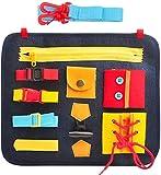 MOMSIV Bordo affollato per i più Piccoli, Apprendimento del Feltro Primi Anni di Vita di Base Abilità Scheda attività, Giocattoli educativi e sensoriali per Bambini