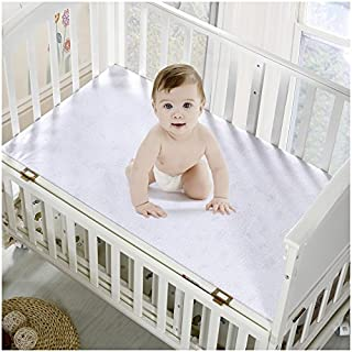 Mellanni Premium Waterproof Crib Mattress Protector - Dust Mite, Bacteria Resistant - Hypoallergenic - Fitted Deep Pocket - Better Than Pads, Covers or Toppers (Crib/Toddler Bed)