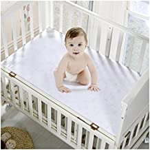 Mellanni Premium Waterproof Crib Mattress Protector - Fitted Deep Pocket - Better than Pads, Cover or Toppers (Crib / Toddler Bed)